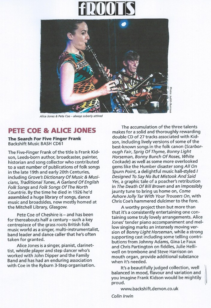 Review from fRoots Magazine by Colin Irwin