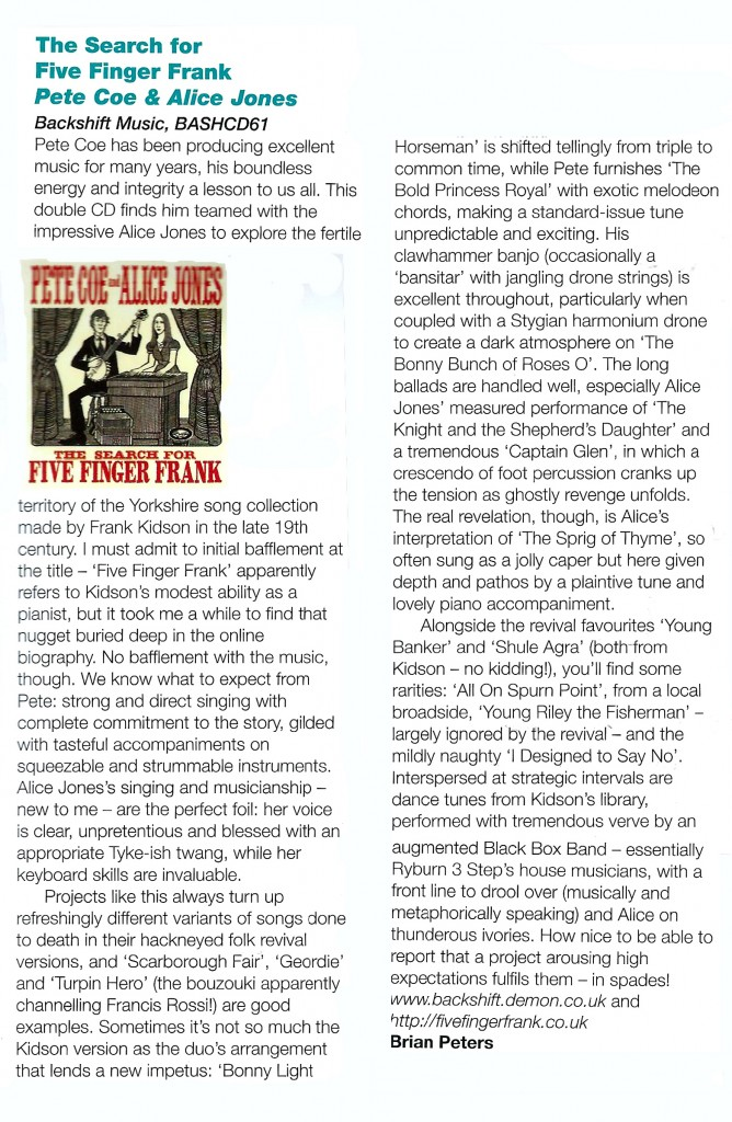 EDS Magazine - The Search For Five Finger Frank Review