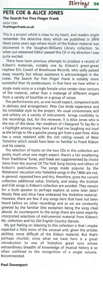 Review from Stirrings Magazine by Paul Davenport