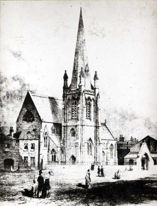 St. Phillip's Church, Wellington Street, Leeds circa 1866