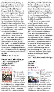 Songlines Magazine: The Search for Five Finger Frank Review